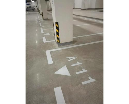 延安停车场划线
